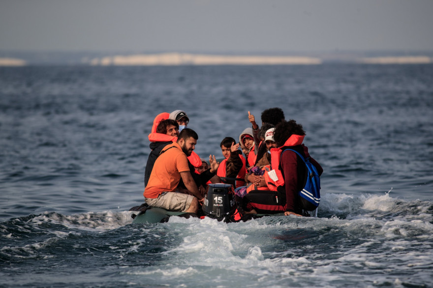 Une traversée illégale de migrants, en mer (illustration)