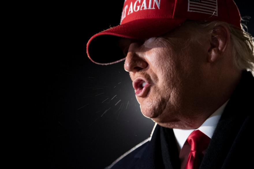 Donald Trump le 2 novembre 2020, à Milwaukee, dans le Wisconsin.
