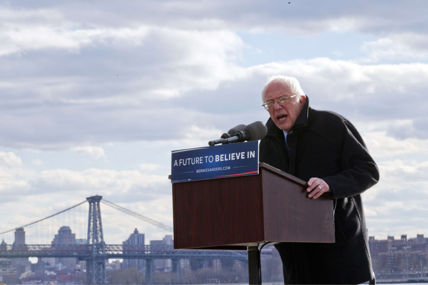 Le candidat démocrate Bernie Sanders à Brooklyn (New York) le 8 avril 2016.