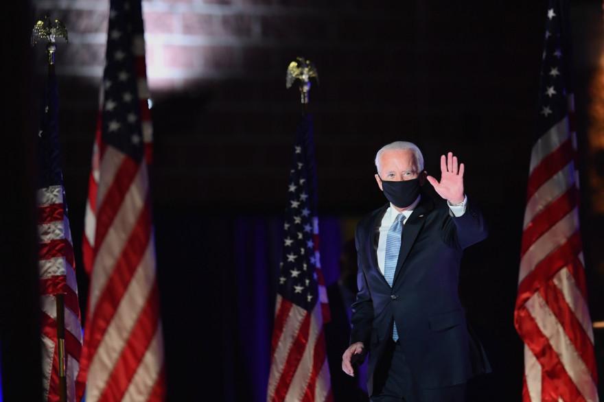 Joe Biden lors de son premier discours après son élection, dans la nuit du 8 novembre 2020