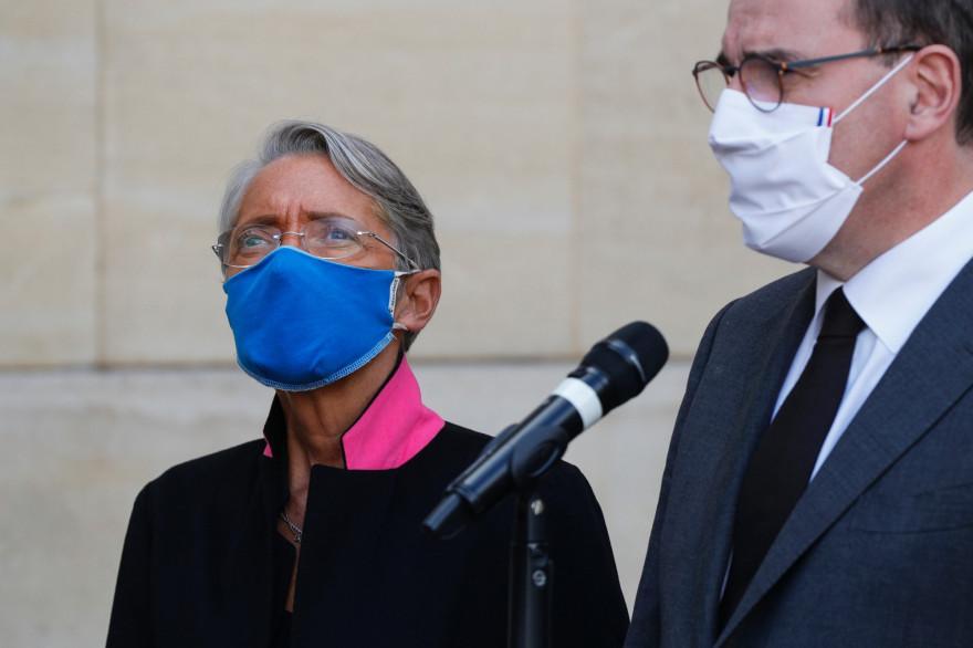 Élisabeth Borne et Jean Castex, le 26 octobre 2020