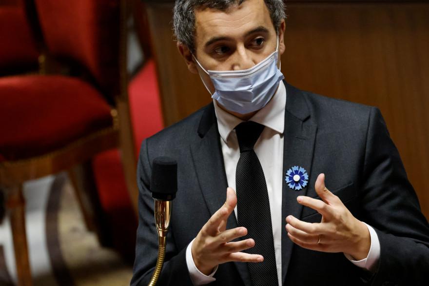 Le ministre de l'Intérieur Gérald Darmanin à l'Assemblée nationale le 10 novembre 2020