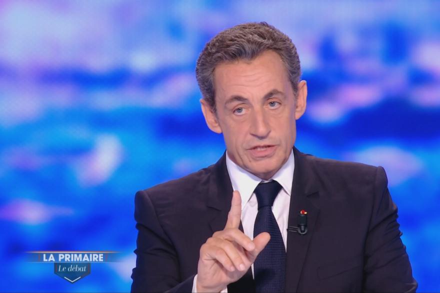 Nicolas Sarkozy lors du débat de la primaire de la droite du 13 octobre 2016.