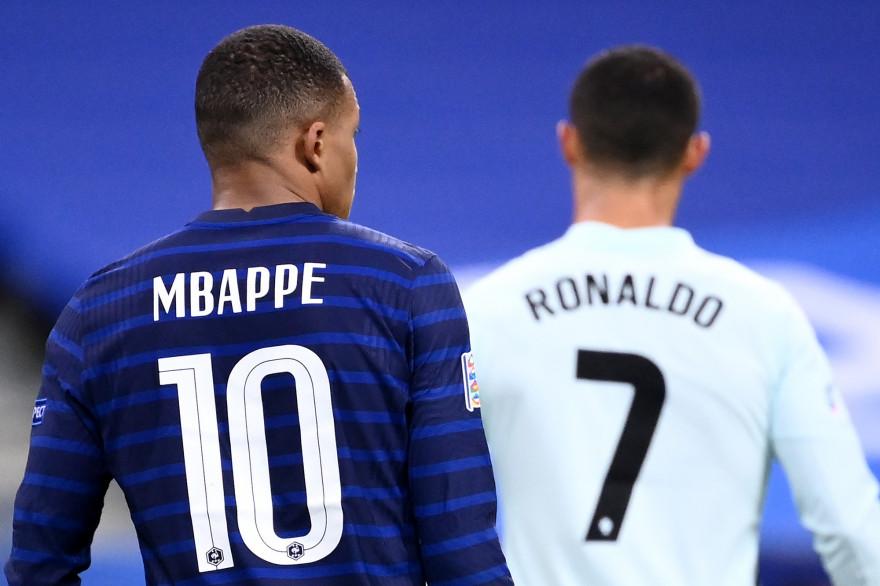 Kylian Mbappé et Cristiano Ronaldo à Saint-Denis le 11 octobre 2020
