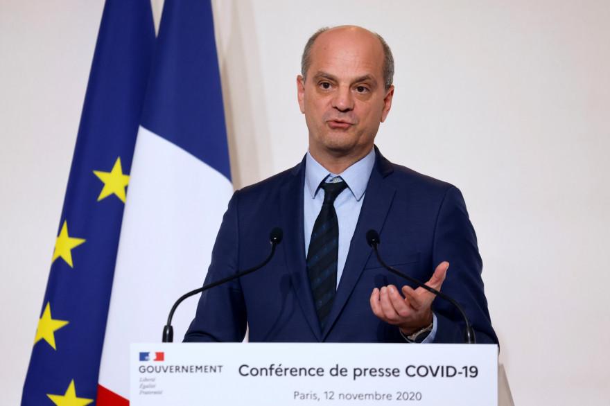 Jean-Michel Blanquer en conférence de presse, le 12 novembre 2020.