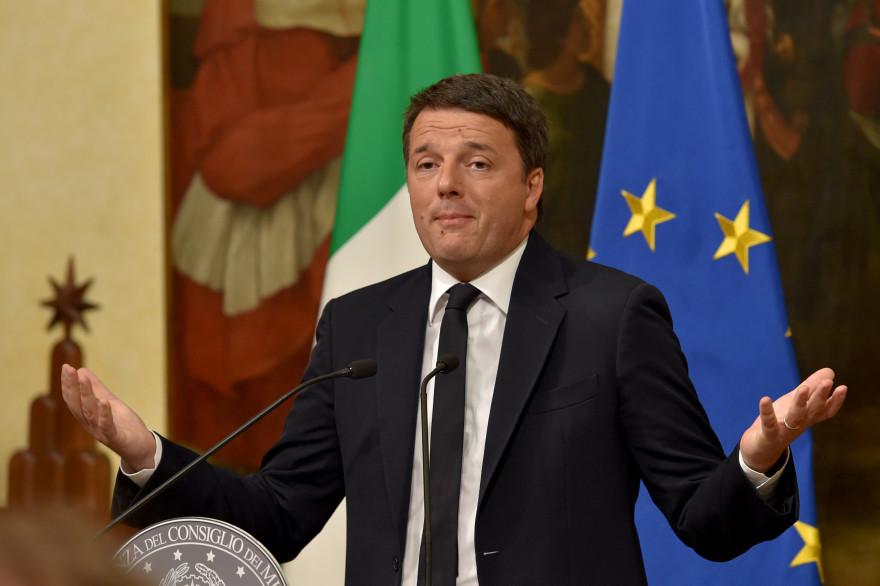 Matteo Renzi a annoncé sa démission depuis le palais Chigi dimanche 4 décembre 2016.