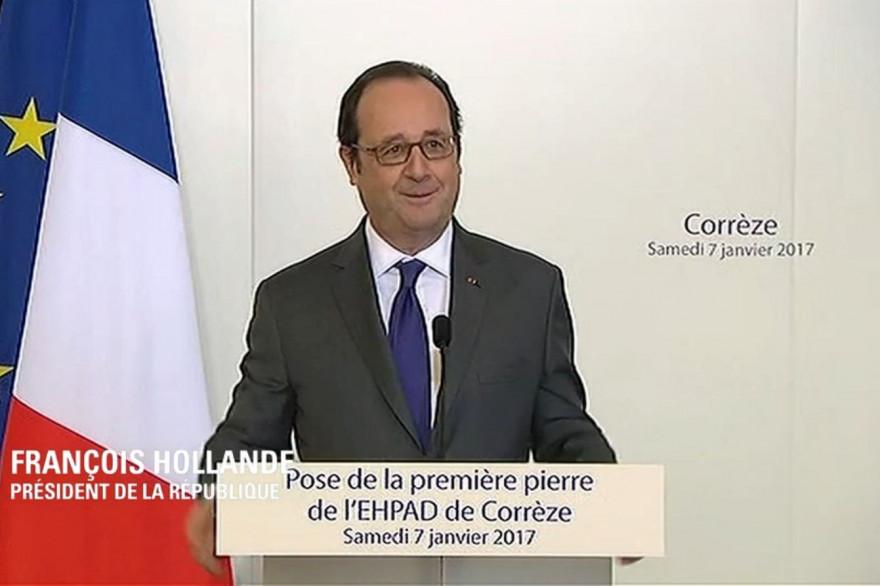 François Hollande à Corrèze (Corrèze) le 7 janvier 2017.