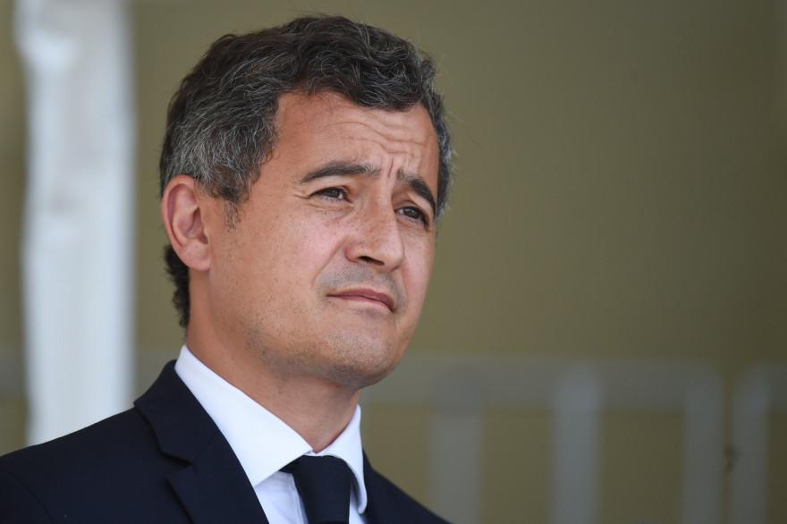 Le ministre de l'Intérieur, Gérald Darmanin, le 12 juillet 2020, au Mans