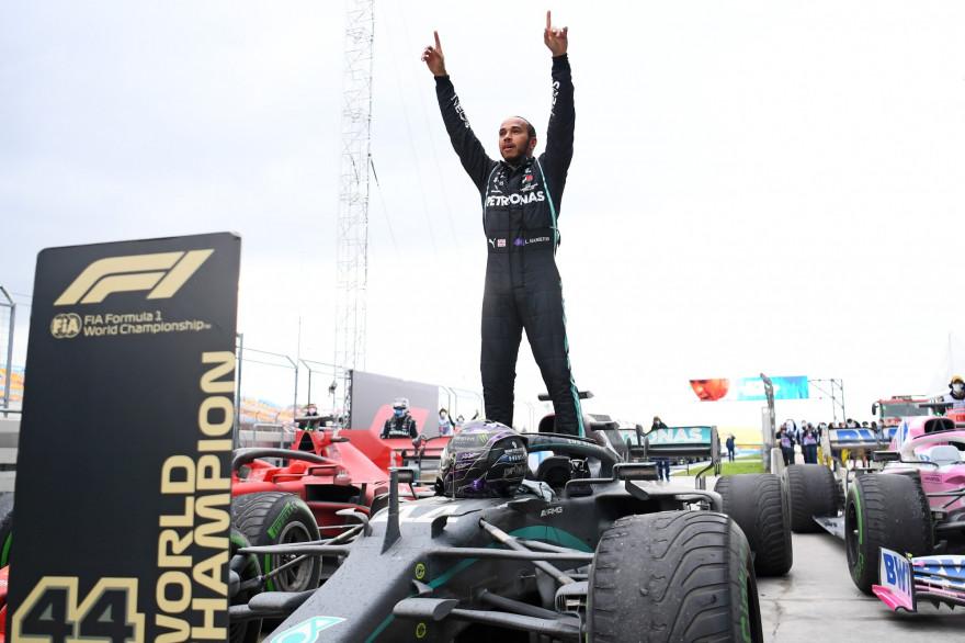 Lewis Hamilton à Istanbul le 15 novembre 2020