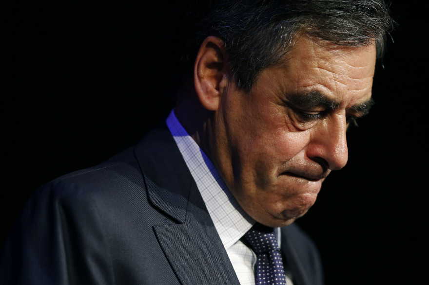 François Fillon, lors d'un meeting à Caen le 21 octobre 2016