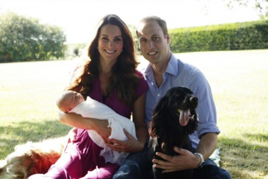 Lupo, en compagnie de Kate, William et le prince George