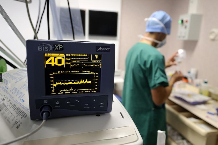 Un moniteur de fréquences cardiaques (illustration)