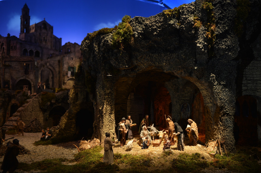 Une crèche de Noël à Rome (illustration)