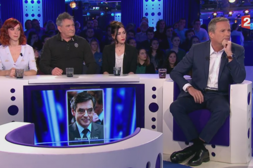 Nicolas Dupont Aignan à On n'est pas couché le 18 février 2017.