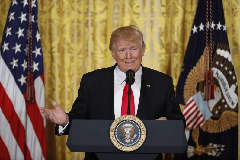 Donald Trump le 16 février 2017 à la Maison Blanche