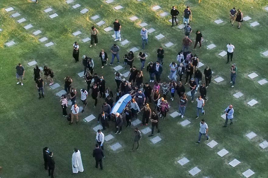 Le cercueil de Diego Maradona le 26 novembre 2020 à Bella Vista