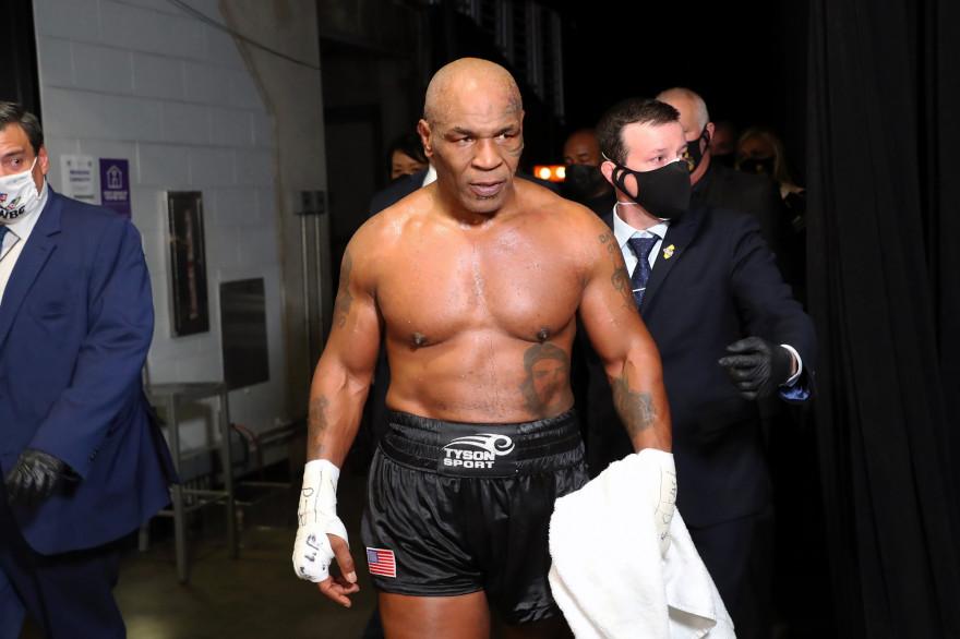 Mike Tyson à Los Angeles le 28 novembre 2020