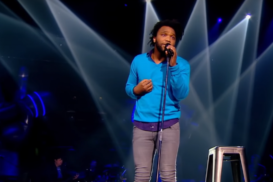 "Le chanteur Spleen en 2014 dans ""The Voice"""
