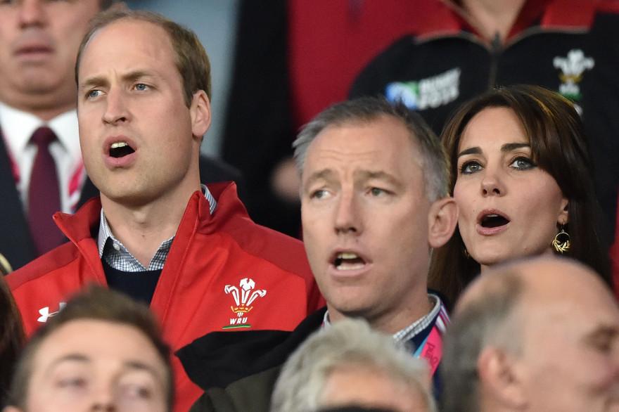 Kate Middleton et le prince William lors de la Coupe du monde de rugby en 2015
