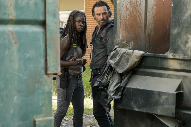 """Michonne et Rick dans """"The Walking Dead"""""""