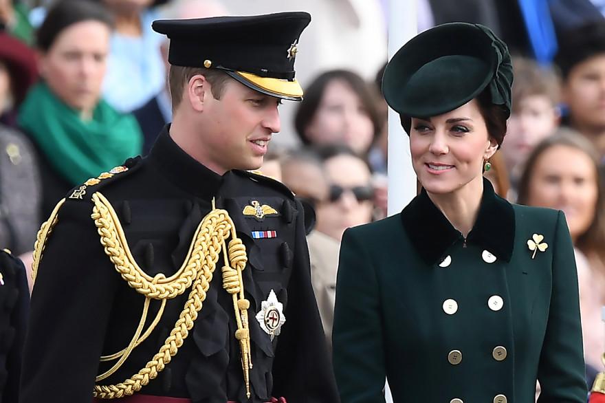 Le prince William et Kate Middleton à l'occasion de la Saint Patrick à Londres