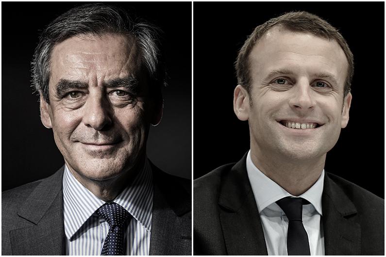 François Fillon et Emmanuel Macron