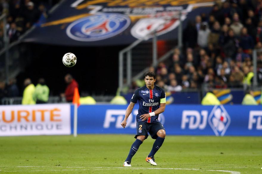 Le capitaine du PSG Thiago Silva lors de la dernière finale face à Lille le 23 avril 2016