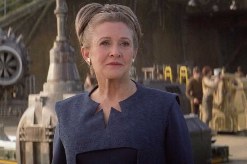 "Carrie Fisher dans ""Star Wars 7"""
