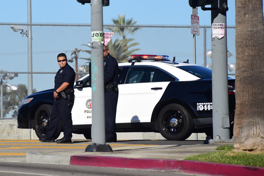 Des policiers américains à San Bernardino, en Californie (Illustration).