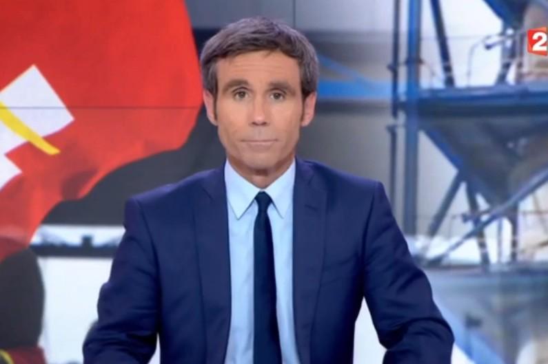 David Pujadas sur le plateau du 20h de France 2
