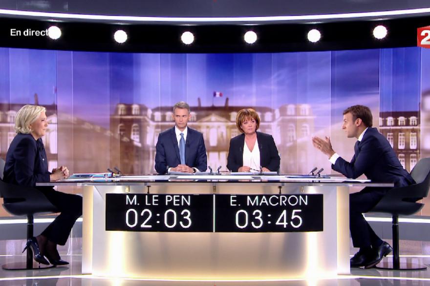 Marine Le Pen et Emmanuel Macron