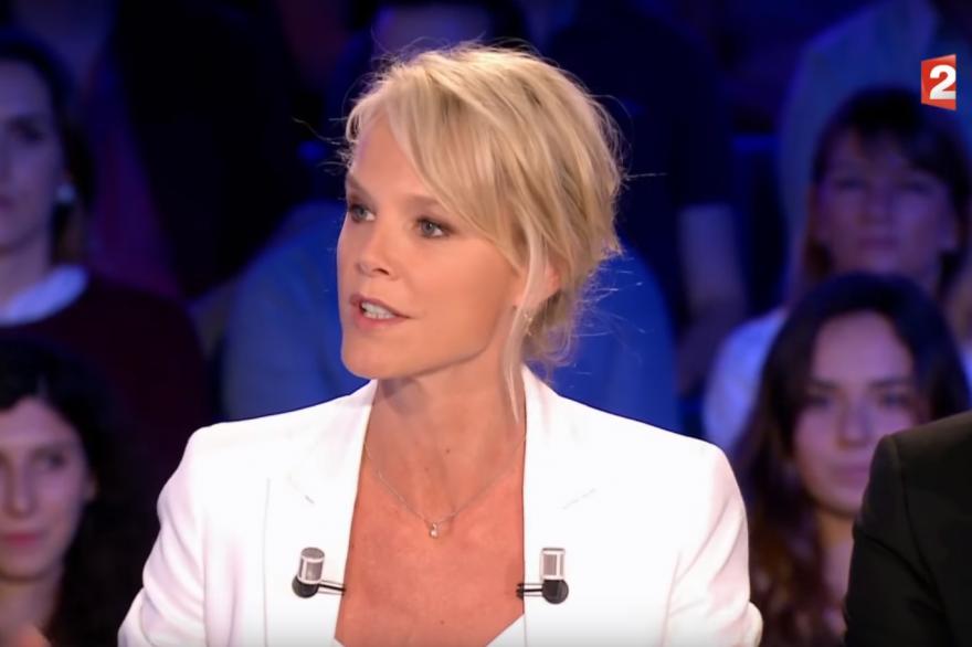 Vanessa Burggraf, sur le plateau d'On n'est pas couché, le 20 mai 2017.