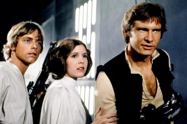 """Luke Skywalker, la princesse Leia et Han Solo dans """"Un nouvel espoir"""""""