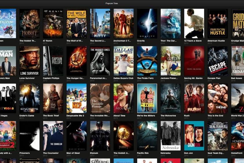 Popcorn Time est l'un des quatre lecteurs concernés par la vulnérabilité