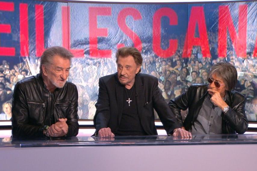 Les Vieilles Canailles réunies sur le plateau du 20 Heures de TF1 le 4 juin 2017