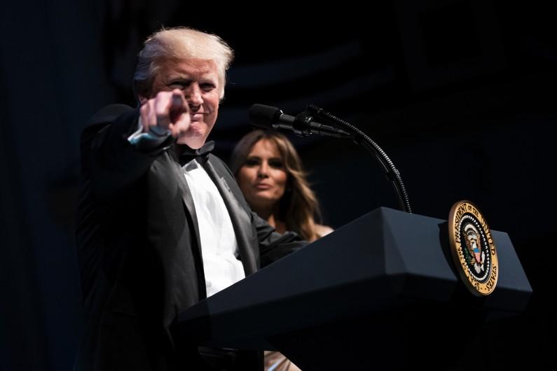 Donald Trump, le président américain, le 4 juin 2017