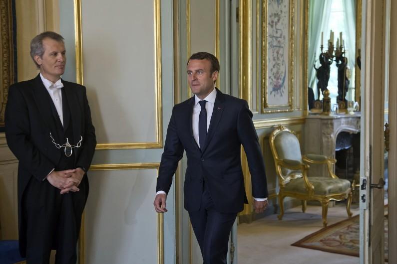 Emmanuel Macron à l'Élysée, le 23 mai 2017