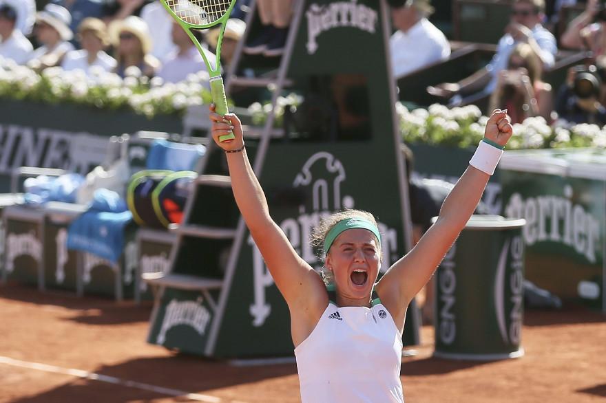La Letonne Jelena Ostapenko s'est qualifiée pour sa première finale en Grand Chelem jeudi 8 juin 2017