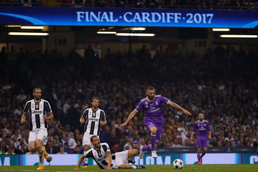 La finale de la Ligue des champions entre le Real Madrid et la Juventus Turin le 3 juin 2017.