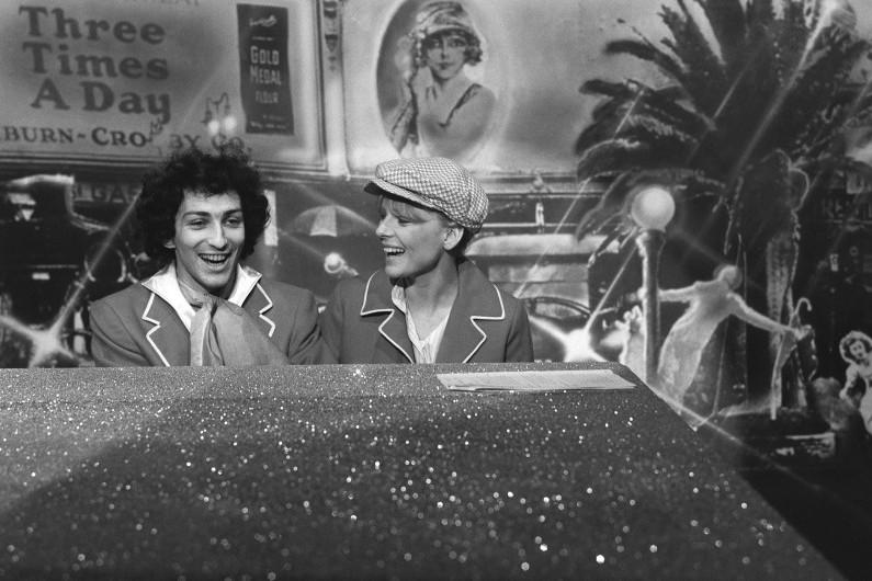 Michel Berger et France Gall sur plateau de télé, dans les années 70