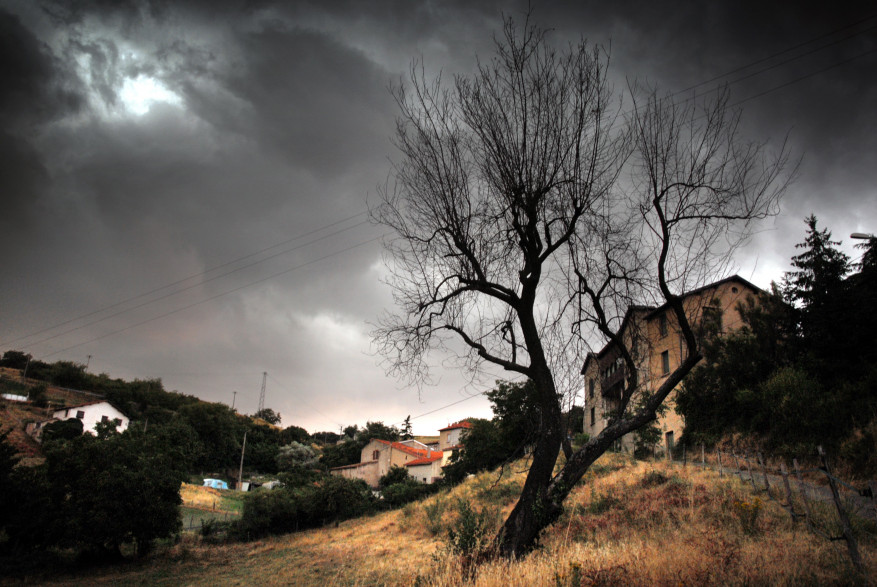 Un orage dans la campagne lyonnaise le 5 juillet 2017 (illustration)