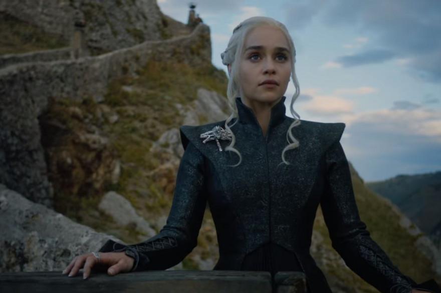 Daenerys depuis les hauteurs de Peyredragon