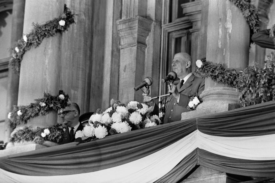 Le général de Gaulle en visite au Québec le 24 juillet 1967