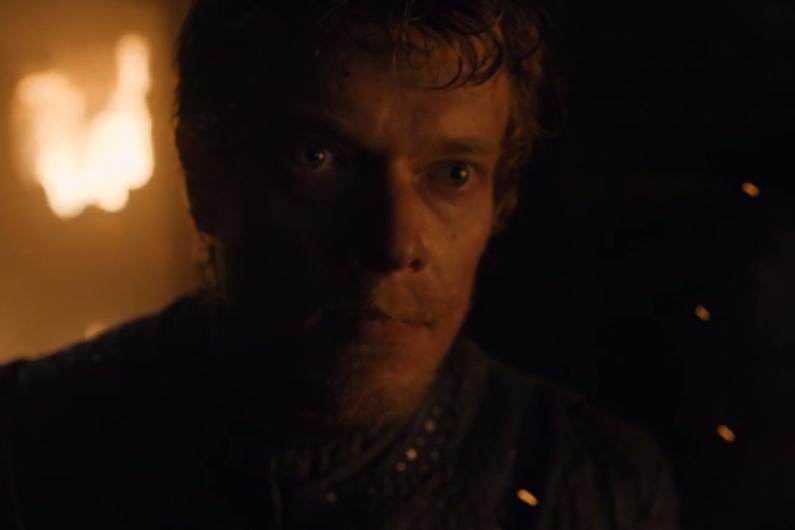 """Theon Greyjoy dans l'épisode """"Stormborn"""" de """"Game of Thrones"""""""
