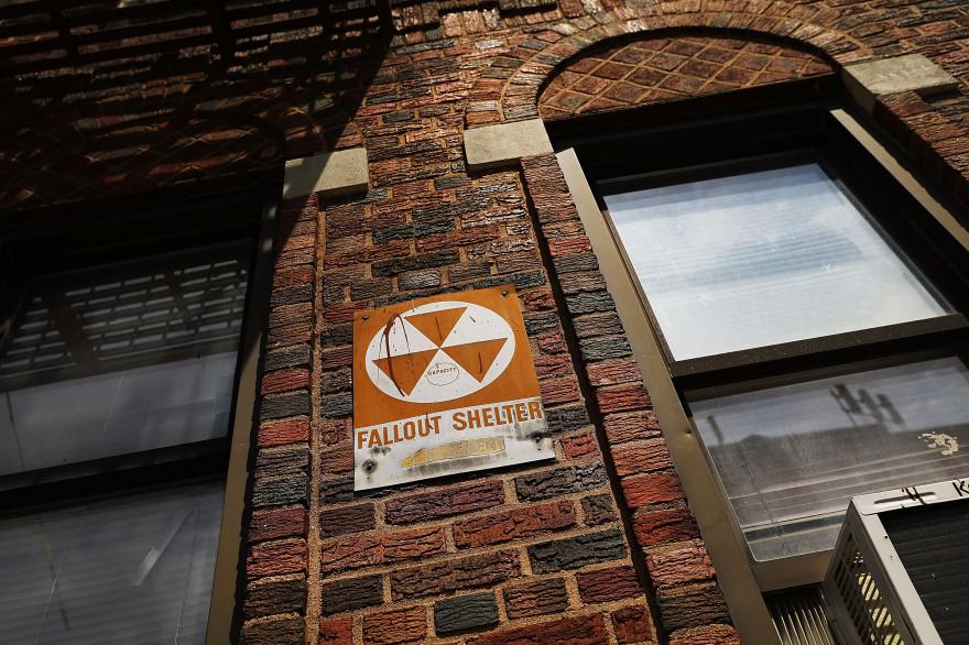 Un abris anti-atomique dans les rues de New York