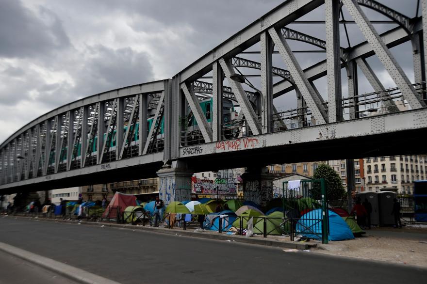 Le camp de migrants de la Porte de La Chapelle a été évacué vendredi 18 août