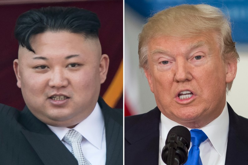 Kim Jong-Un, président de la Corée du Nord, et Donald Trump, président américain.