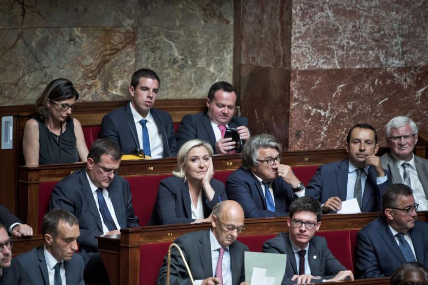 Les élus du Front national à l'Assemblée nationale le 5 juillet 2017.