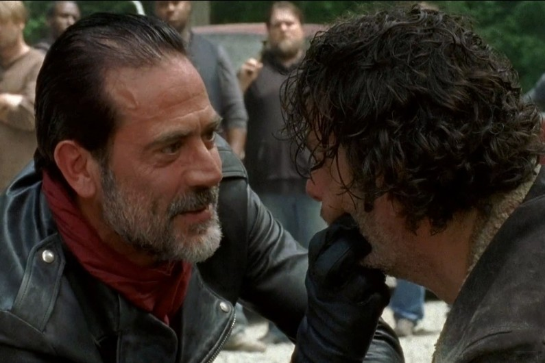"Negan et Rick dans ""The Walking Dead"""