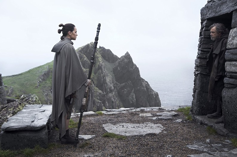 "Rey et Luke Skywalker dans ""Star Wars 8"""
